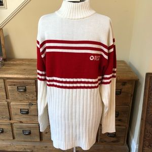 0c59b4795b Men s SOUTH POLE Red and White Sweater Sz L